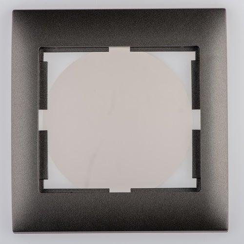 Polmark Sigma grafit ramka pojedyncza