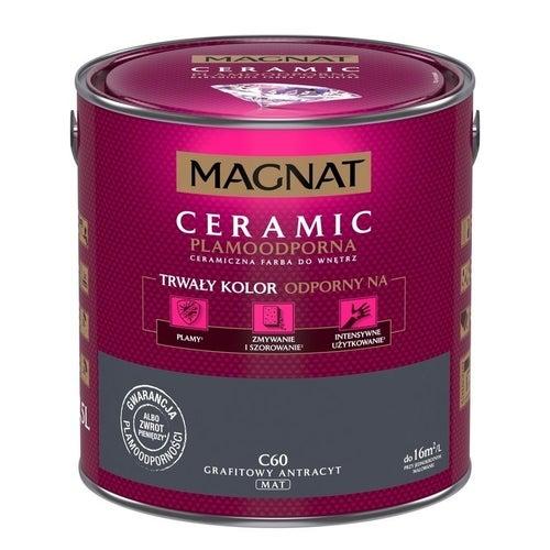 Farba Magnat Ceramic grafitowy antracyt 2,5l