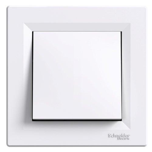 Schneider Asfora biały łącznik przycisk dzwonek