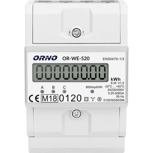 Licznik energii elekrycznej 3-fazowy, 80A, certyfikat MID