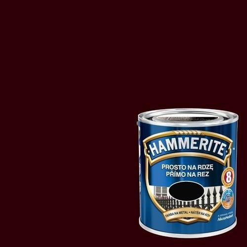 Farba antykorozyja Hammerite ciemny brąz połysk 2,5l