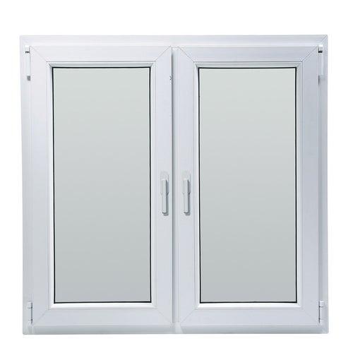 Okno fasadowe 2-szybowe  PCV O32A rozwierno-uchylne + rozwierne symetryczne prawe 1165x1435 mm białe