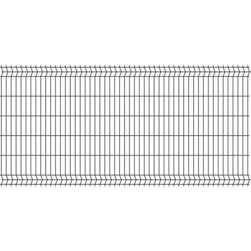 Panel ogrodzeniowy 3D czarny 123x250 cm, oczko 50x200 mm, drut 4 mm