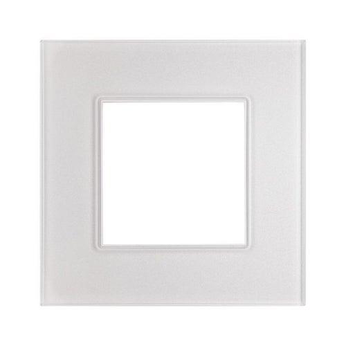 Polmark Rosa ramka szklana kryształowa biel pojedyncza