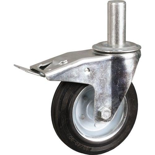 Zestaw jezdny skrętny 200 mm z hamulcem