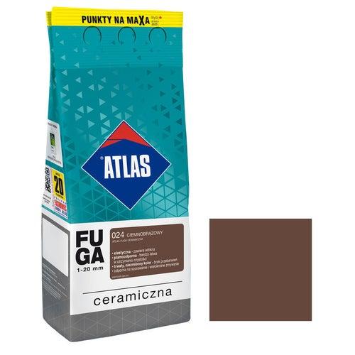 Fuga ceramiczna Atlas 024 ciemnobrązowy 2kg