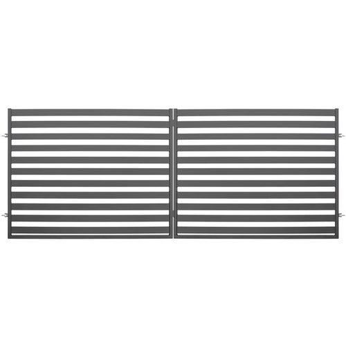 Brama ogrodzeniowa dwuskrzydłowa Inka antracyt, 150x400 cm