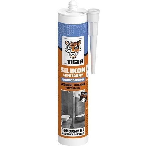 Silikon sanitarny Tiger 300 ml, biały