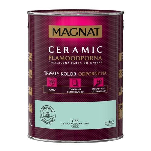 Farba Magnat Ceramic szmaragdowy toń 5l