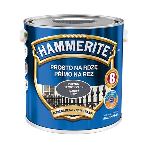Farba Hammerite połysk ciemny szary 2,5l