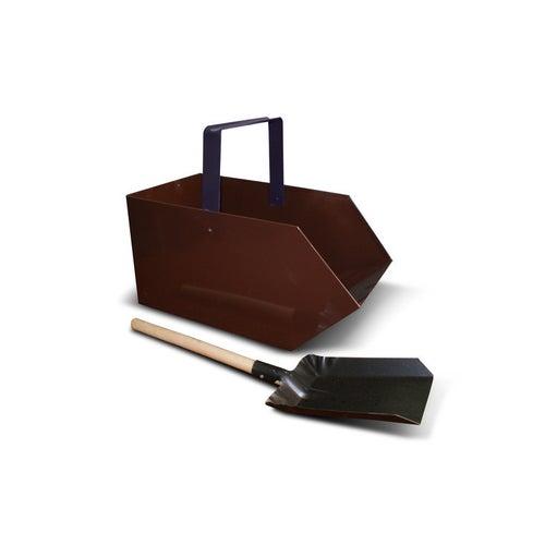 Zestaw węglarka z łopatką z drewnianym trzonkiem