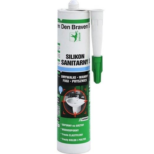 Silikon sanitarny Den Braven 280 ml, bezbarwny