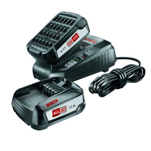 Zestaw akumulatorów 18V 2 x 2,5Ah + szybka ładowarka Bosch