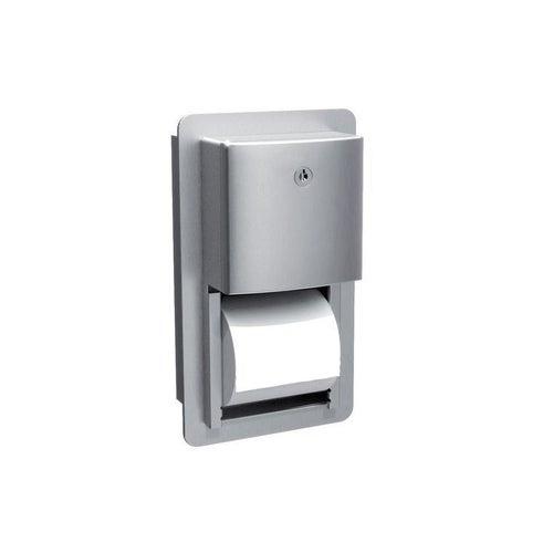 Wnękowy pojemnik na dwie rolki papieru toaletowgo Roval, stal matowa 20031