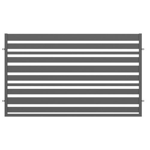 Przęsło ogrodzeniowe Ksenia antracyt, 120x200 cm