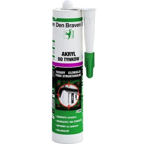 Akryl do tynków Den Braven biały 280ml