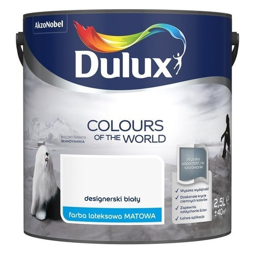 Farba Dulux Kolory Świata designerski biały 2,5l