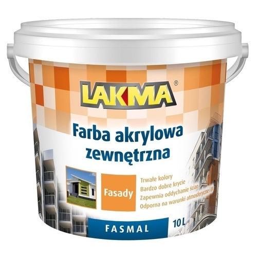 Farba fasadowa Fasmal Lakma biały 10l