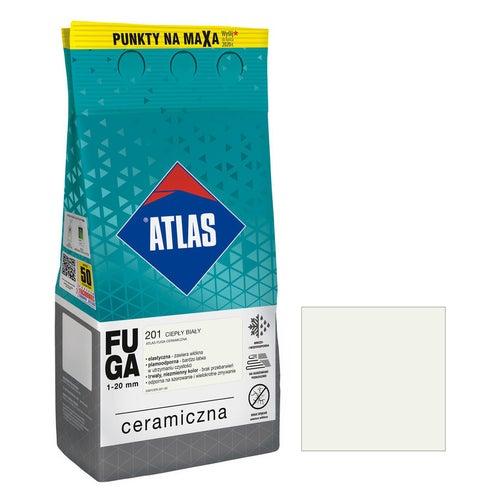 Fuga ceramiczna Atlas 201 ciepły biały 5kg