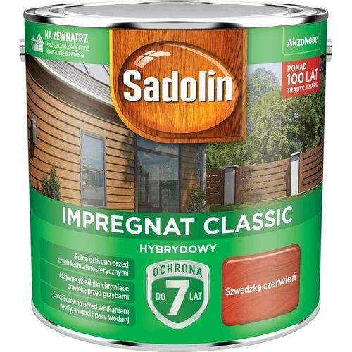 Impregnat hybrydowy Sadolin Classic szwedzka czerwień 2,5l