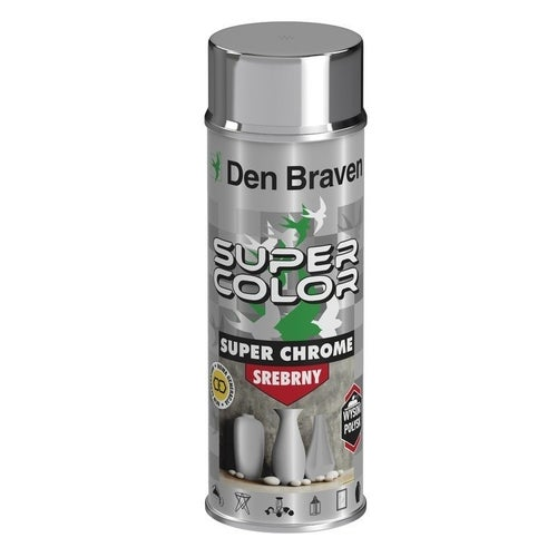 Spray Den Braven Super Color Chrome srebrny 400ml