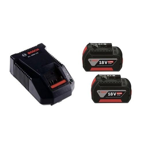 Zestaw akumulatorów 18V: 2 x 4,0Ah + ładowarka GAL 1860 Bosch