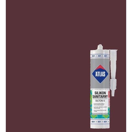 Silikon sanitarny Atlas 023 brązowy 280 ml
