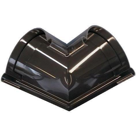 Łącznik kątowy zewnętrzny G80, brązowy PVC Scala Plastics