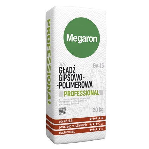 Gładz gipsowo-polimerowa GV-15 20 kg Megaron