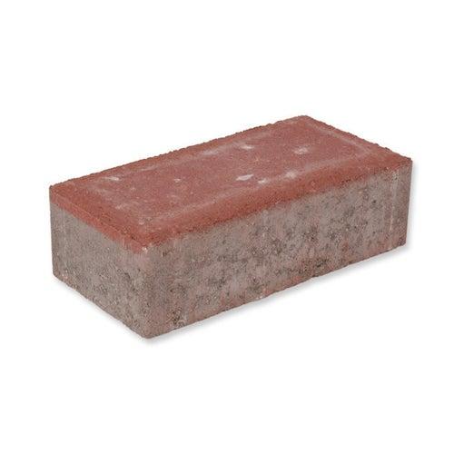 Kostka brukowa BaumaBrick Prostokąt czerwona gr. 6 cm gładka wym.10x20 cm