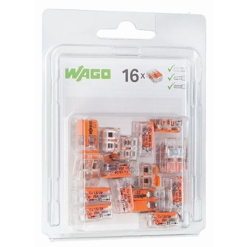Szybkozłączka uniwersalna Wago 2x0,2-4mm2 16szt
