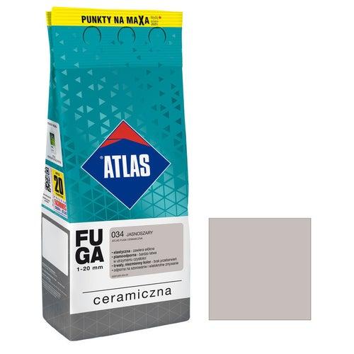 Fuga ceramiczna Atlas 034 jasnoszary 2kg