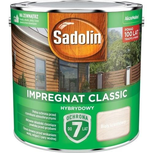 Impregnat hybrydowy Sadolin Classic biały kremowy 2,5l