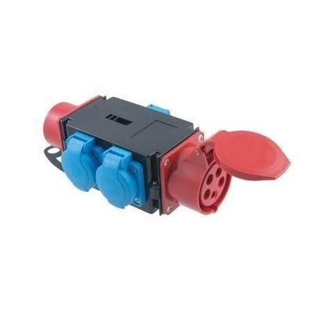Rozdzielnica R-BOX MINI 3 gniazdo i wtyk 16A 3P+N+Z 400V, 3x2P+Z 250V IP44