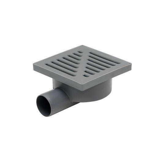 Kratka ściekowa boczna fi 50 mm szara