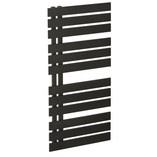 Grzejnik łazienkowy Namelesss 120x50, czarny struktura