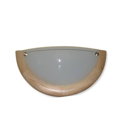 Półplafoniera Drewno 1x60W E27 sosna
