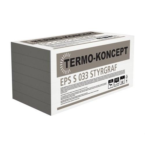 Styropian Termo-Koncept Styrgraf 20 cm frezowany EPS 0,033 W/(mK) 1,41 m2