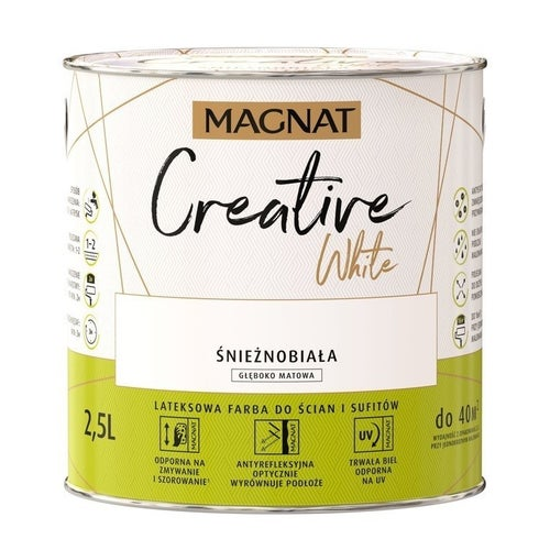 Farba Magnat Creative White biała 2,5l