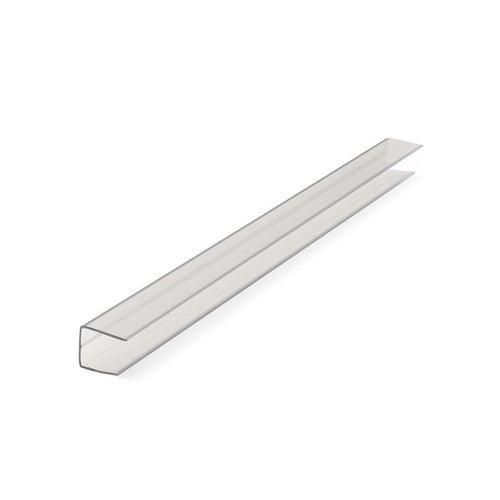 Profil zamykający U z poliwęglanu, 10 mm dł. 210 cm