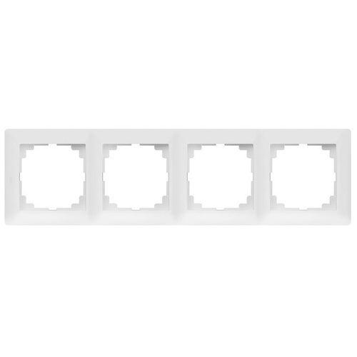 Elektroplast Astoria biały ramka poczwórna