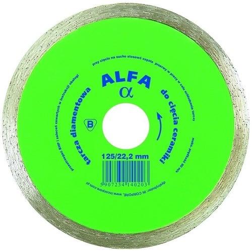 Tarcza diamentowa do cięcia ceramiki Alfa pełne 115mm 22.2mm