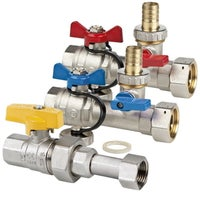 Komplet zaworów podłączeniowych do instalacji kotła gazowego