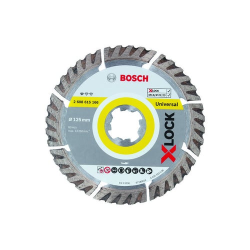 Tarcza diamentowa segmentowa 125 mm X-LOCK Bosch