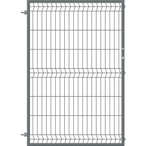 Furtka ogrodzeniowa panelowa antracyt, 150x100 cm, lewa