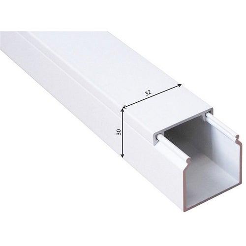 Listwa kablowa MKE 30x32mm UV biała 2m