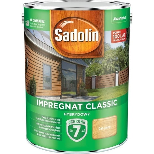 Impregnat hybrydowy Sadolin Classic dąb jasny 4,5l