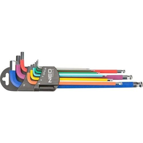 Zestaw kluczy sześciokątnych 1.5-10 mm, 9 sztuk