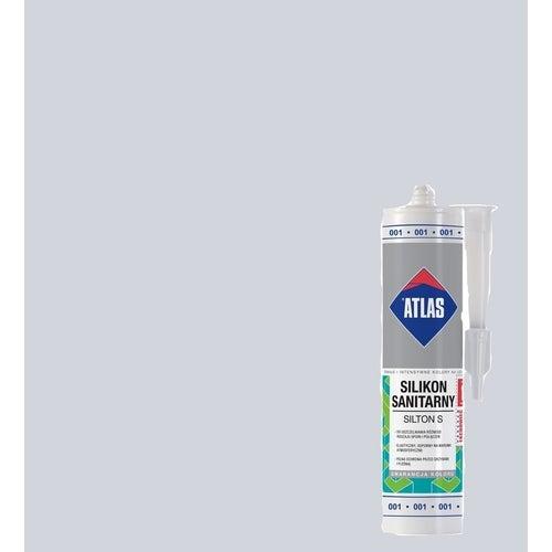 Silikon sanitarny Atlas 001 biały 280 ml