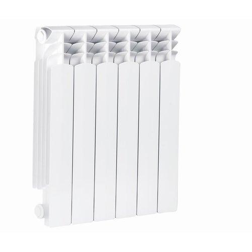 Grzejnik aluminiowy G500F, 6-elementowy, biały